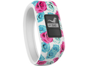 GARMIN  vivofit jr., Fitness Tracker, 136-150 mm, Silikon, Real Flower