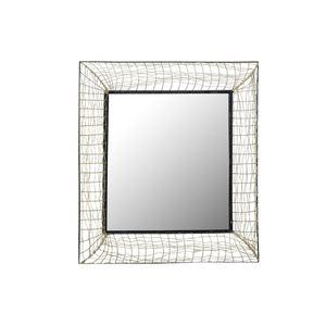 Spiegel Schwarz Rahmen geflochten ca. 105 x 105 cm