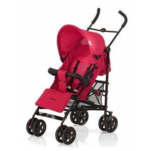 KNORR-BABY   Commo Buggy mit Liegefunktion red/black