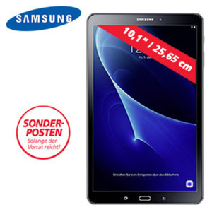 Multimedia-Tablet-PC Galaxy Tab A (SM-T580) • Full-HD-Touchdisplay (1920 x 1200) • 2 Kameras (Back 8 MP/Front 2 MP) • Full-HD-Video • schnelles WLAN ac Dual-Band (2,4 GHz + 5 GHz) • microSD™-Slot