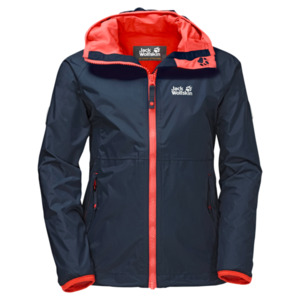 Jack Wolfskin Hardshell Mädchen Rainy Days Girls 128 midnight blue
