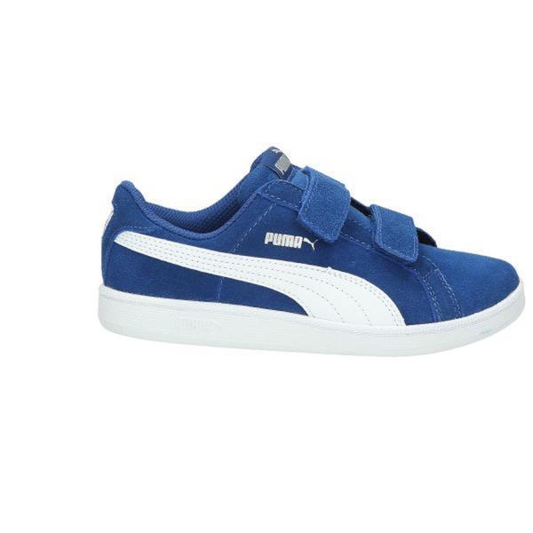 neue sorten gut elegantes und robustes Paket Puma Sneaker Jungen Leder, mittelblau