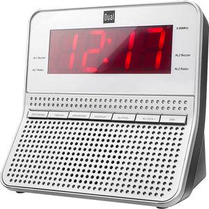 Dual Radiowecker CR 09, silber