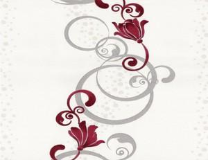 Vliestapete Blume rot