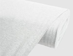 Jerseystoff Uni Marmor grau