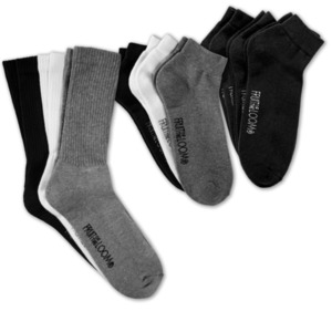 FRUIT OF THE LOOM Socken oder Sneakersocken