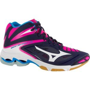 Volleyballschuhe Wave Lightning Damen blau/weiß/rosa MIZUNO