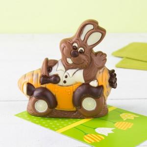 Schokoladen-Hase im Auto 150g 3,99 € / 100g