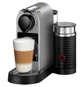 "Nespresso             Krups Kapselmaschine ""CitiZ & Milk"" XN760B, titan"