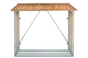 Tepro 7454 Kaminholzregal, Holz-Dekor Eiche, 182 x 162,5 x 74 cm
