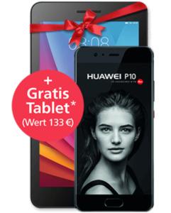 Huawei P10 + Gratis Tablet mit o2 Free L