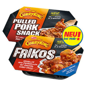 Meica Curry King Pulled Pork Snack oder Frikos jede 220-g-Packung