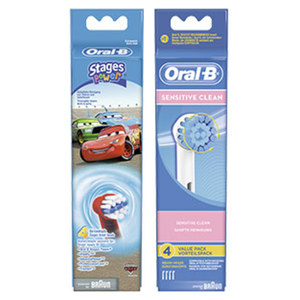 Oral-B Aufsteckbürsten Precision Clean, Sensitive Clean oder Stages Power jede 4er- Packung
