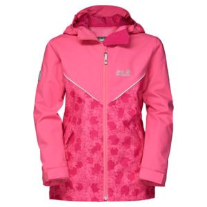 Jack Wolfskin Hardshell Mädchen Forrest Leaf Jacket Girls 152 hot pink