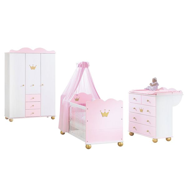 prinzessin karolin sparset 3 teilig babybett. Black Bedroom Furniture Sets. Home Design Ideas
