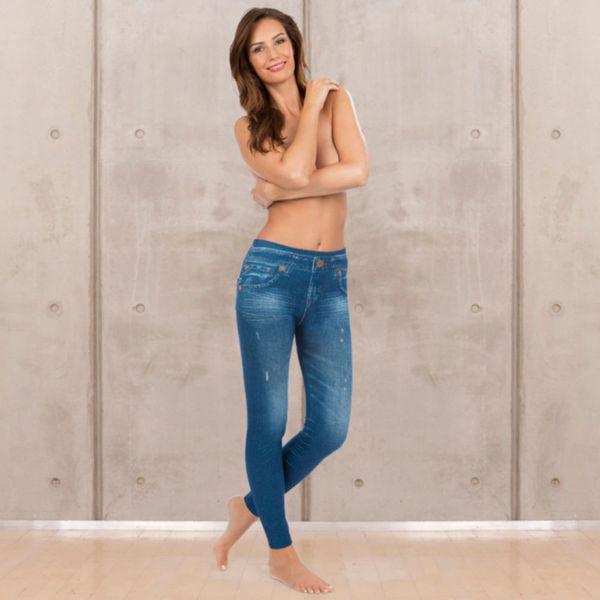 SLIMmaxx Jeans-Leggings 2er-Set schwarz/blau Gr. 38/40