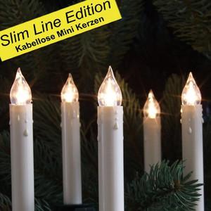 5er LED Christbaumkerzen-Erweiterungsset »Mini« weiß kabellos