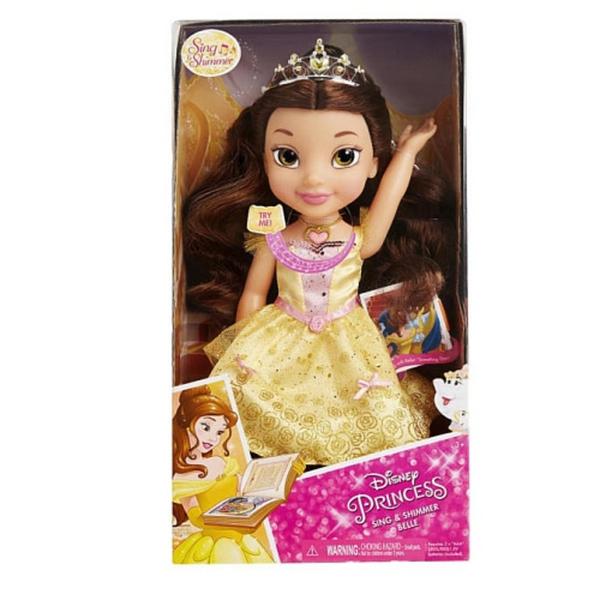 Disney Prinzessin Sing Shimmer Puppe Belle Von Toysrus