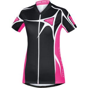 Gore Bike Wear Damen Radtrikot Element Adrenaline 2.0, schwarz/pink
