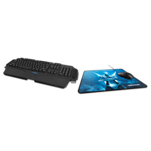MEDION ERAZER X81044 (MD 87444) Gaming Mouse + Gaming Keyboard X81025 (MD 87439) & Gaming Mousepad MEDION ERAZER X89011 (MD 87642)