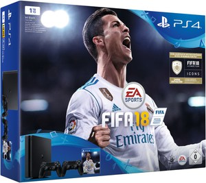 Sony PS4 Slim Konsole (1TB) inkl. Fifa 18 u. zweitem Controller