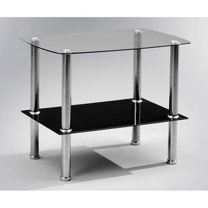 Anzani Beistelltisch ZOOM Metall/Sicherheitsglas  ca. 65 x 50 x 45 cm