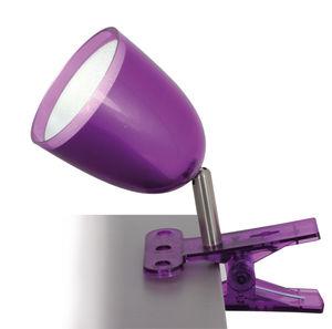 Näve LED-Klemmleuchte, Farbe violett, d: 9 cm