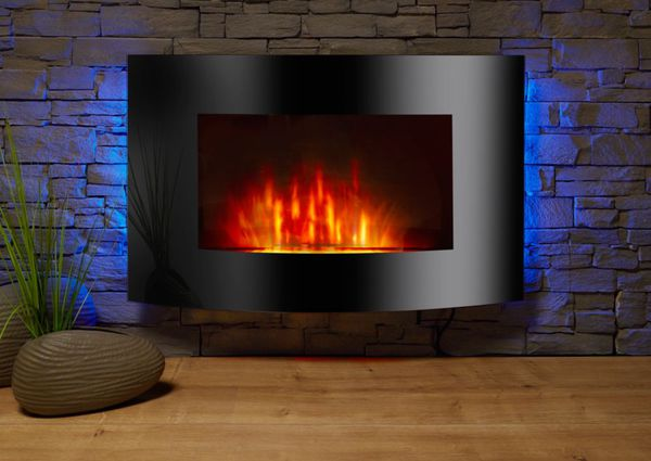el fuego z rich elektrokamin mit heizfunktion und. Black Bedroom Furniture Sets. Home Design Ideas