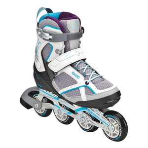 Inline-Skates Inliner Fit 5 Damen grau/blau OXELO