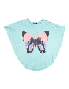 Mädchen Shirt mit Schmetterlings-Print