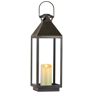 Laterne inkl. LED-Kerze (Eisen, flackernd)