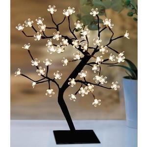 Lichterbaum 45 cm mit 48 LED-Blüten warm-weiß für innen