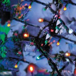 200er LED-Lichterkette bunt für Außen & Innen