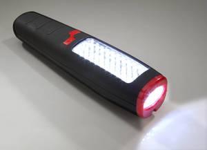 Arbeitslampe mit 30 LEDs, 7 LED Taschenlampe Magnet und drehb. Haken Eaxus