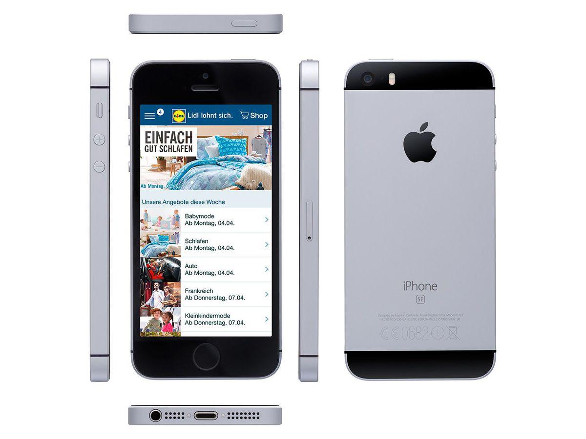Bild 1 von Apple Smartphone iPhone SE 32 GB Grau