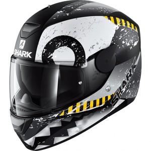 Shark helmets            D-SKWAL Saurus Schwarz/Weiß/Grau Matt