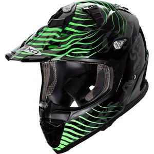 Nexo            MX-Line Fiberglas Crosshelm grün Dekor