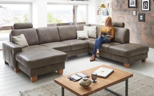 polinova polinova leder wohnlandschaft sonata von hardeck ansehen. Black Bedroom Furniture Sets. Home Design Ideas