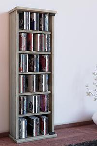 """VCM Regal DVD CD Rack Medienregal Medienschrank Aufbewahrung Holzregal Standregal Möbel Bluray Möbel """"Vetro"""" (Farbe: Sonoma-Eiche (Sägerau))"""