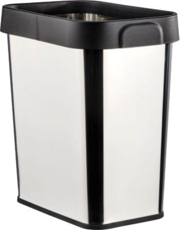 wenko edelstahl universal abfalleimer 12 liter eckig von ansehen. Black Bedroom Furniture Sets. Home Design Ideas