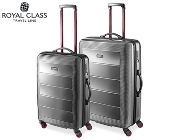 royal class travel line polycarbonat koffer set 2 teilig von aldi s d ansehen. Black Bedroom Furniture Sets. Home Design Ideas
