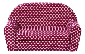 Kindersofa Lucy Pink Punkte
