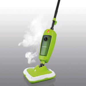 CLEANmaxx Dampfbesen 1000W limegreen/schwarz