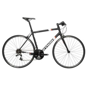 Fitnessrennrad Triban 500 FB Alu schwarz/weiß/orange B'TWIN