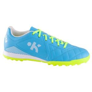 Fußballschuhe Agility 500 HG Multinocken Kinder blau/gelb KIPSTA