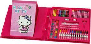 HKAZ4040 Malkoffer Hello Kitty, 66-tlg.
