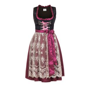 Edelnice Midi Dirndl Made in Germany bordeaux pink, 40