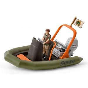 Schleich - Wild Life - Schlauchboot mit Ranger