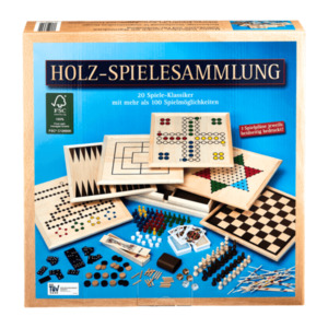 Holz-Spielesammlung