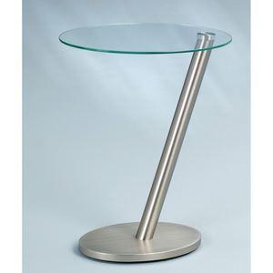 Beistelltisch Glas/Metall Edelstahloptik ca. 40 x 48 x 30 cm